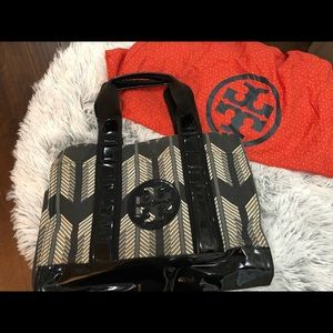 Tory Burch Canvas Tote Bag with Cover